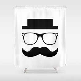 Hipster Mustache Shower Curtain