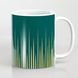 Linear Gold & Emerald Coffee Mug