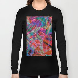 Colorful Abstract Stained Glass G297 Long Sleeve T-shirt