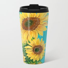Sunflowers & Friends Metal Travel Mug