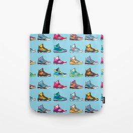 Colorful Sneaker set illustration blue illustration original pop art graphic print Tote Bag
