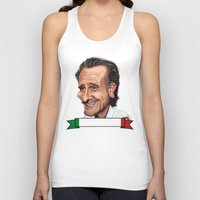 world cup Tank Tops featuring  Cesare Prandelli World Cup by Michael Paci
