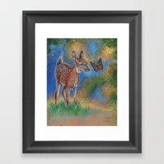 Bambi Butterfly Framed Art Print