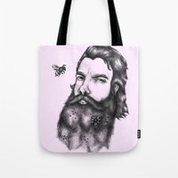 gandalf Tote Bags featuring Yung Gandalf by Jessica Petrylak