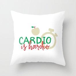 Cardio Is Hardio Throw Pillow