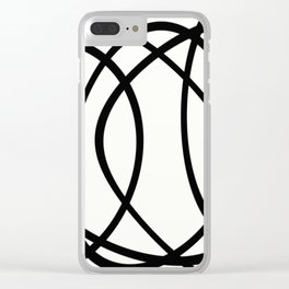 Community - Black and white abstract Clear iPhone Case