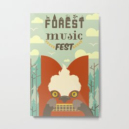 Forest Music Fest Harmonica Fox Metal Print