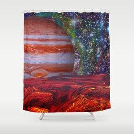 Looking At Jupiter Shower Curtain