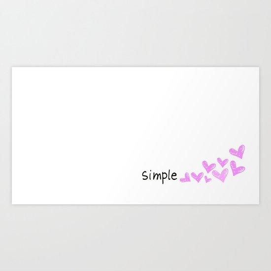 simple hearts  Art Print