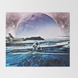 Translucent Planet by GEN Z Throw Blanket