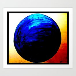 blue. blue. this world is blue. Art Print