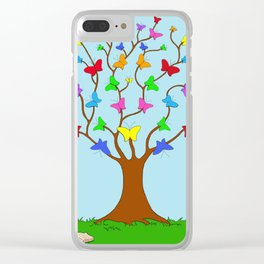 The Butterfly Tree Clear iPhone Case