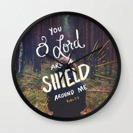 Psalm 3:3a Wall Clock