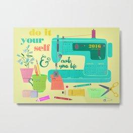 DIY-create your life-2016 Calender Metal Print