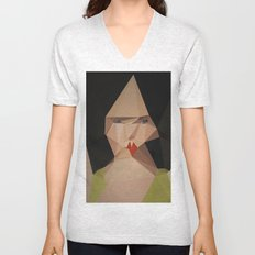 pretty face Unisex V-Neck