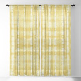 Yellow Itajime Shibori Sheer Curtain