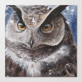 """The Owl - """"Watch-me!"""" - Animal - by LiliFlore Canvas Print"""