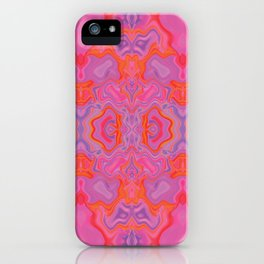 Mad pink marble 2 iPhone Case