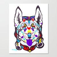 husky Canvas Prints featuring Husky  by PastelxPalette
