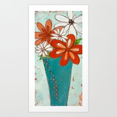 Rustic Flowers Art Print