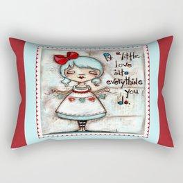 Made with Love - Heart String Tugger Rectangular Pillow