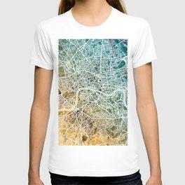 London England Street Map T-shirt