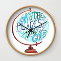 Oh The Places You'll Go - Vintage Globe Hand Lettered Typography by rubyandpearl