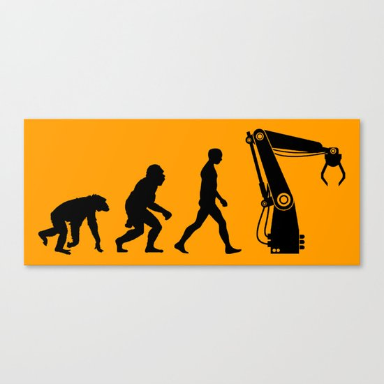 Replaced     Human Evolution Canvas Print