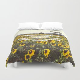 Jeremiah Sunflowers Duvet Cover