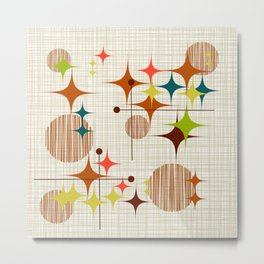 Midcentury Modern Starbursts and Globes 4A Metal Print