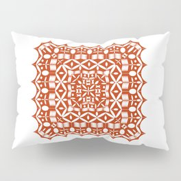 Mandala Red Square Pillow Sham