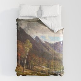 Crawford Notch 1872 By Thomas Hill | Reproduction Comforters
