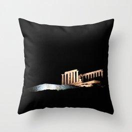 Cape Sounio at night Throw Pillow
