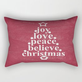 Joy Love Christmas Rectangular Pillow