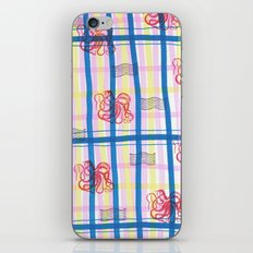 Naval Gingham iPhone Skin