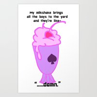 asexual Art Prints featuring Asexual Milkshake by Satyrbug
