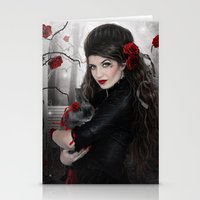 moulin rouge Stationery Cards featuring Rouge by EnchantedWhispers