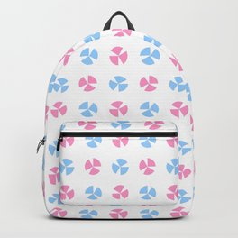 geometric flower 75 blue and pink Backpack