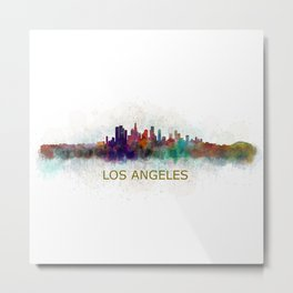 Los Angeles City Skyline HQ v4 Metal Print