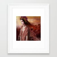 navajo Framed Art Prints featuring Navajo by Nicolas Jamonneau