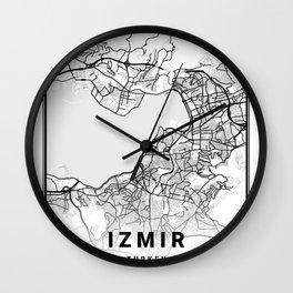 Izmir Light City Map Wall Clock