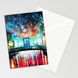 Tardis With Beautiful Starry Night Stationery Cards