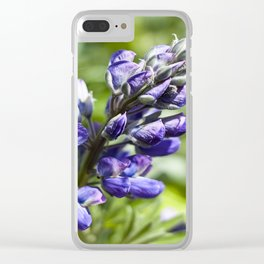 Spring Lupine Photography Print Clear iPhone Case
