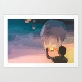 Light Up the Night Art Print
