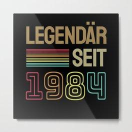 36 Geburtstag Geschenk Metal Print