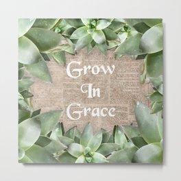 Grow In Grace pg Metal Print