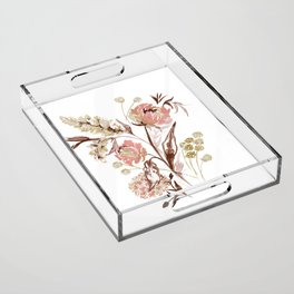 C&C Floral Acrylic Tray