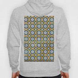 Star Tiles Mosaic Repeat Patten Blue And Yellow Hoody