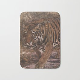 Vintage Tiger Painting (1909) Bath Mat