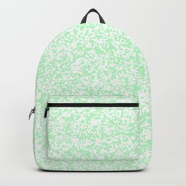 Tiny Spots - White and Light Green Backpack